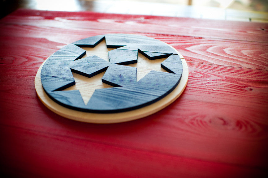 Tennessee wood flag from Patriot Wood