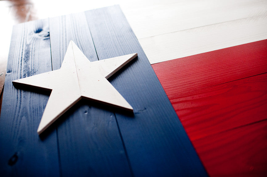 Texas Wood Flag
