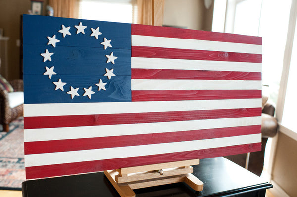 Custom All Stars >> Betsy Ross Wood Flag – Patriot Wood