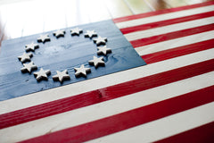 Betsy Ross wood flag, wooden flags by Patriot Wood
