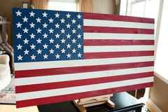 American wood flag, wooden flags by Patriot Wood