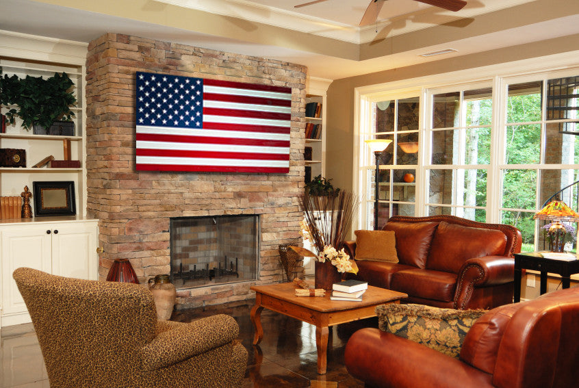 4 Perfect Places To Hang A Wood Flag