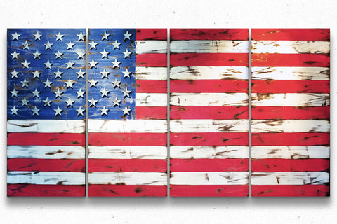 American Vintage 10-Foot Wood Flag