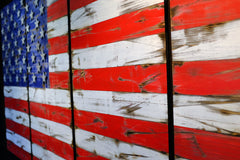 American Vintage 6-Foot Wood Flag