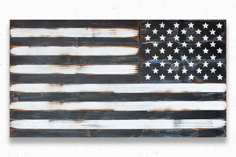 USA Assault Vintage Wood Flag