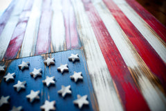 US Vintage Wooden Flag by Patriot Wood