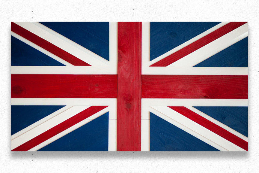 Wooden Union Jack flag
