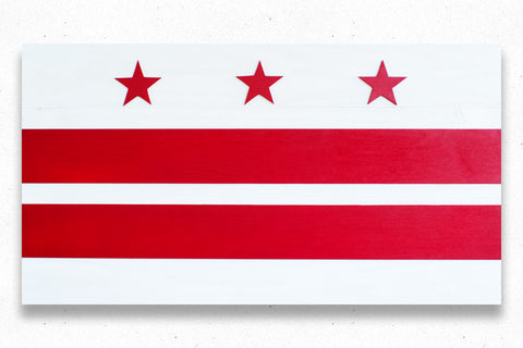 Washington DC Wooden Flag by Patriot Wood