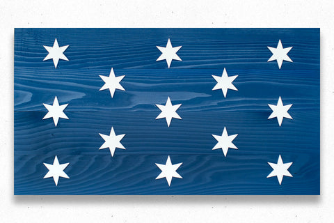 Washington Headquarters Wood Flag