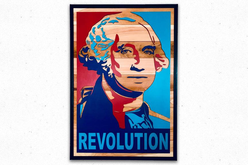 George Washington REVOLUTION Wood Wall Art