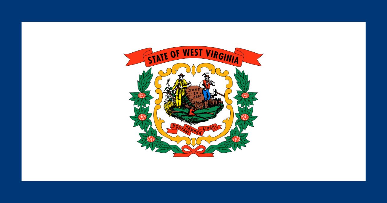 West Virginia Wood Flag
