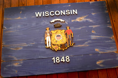 Wisconsin Vintage Wooden Flag by Patriot Wood