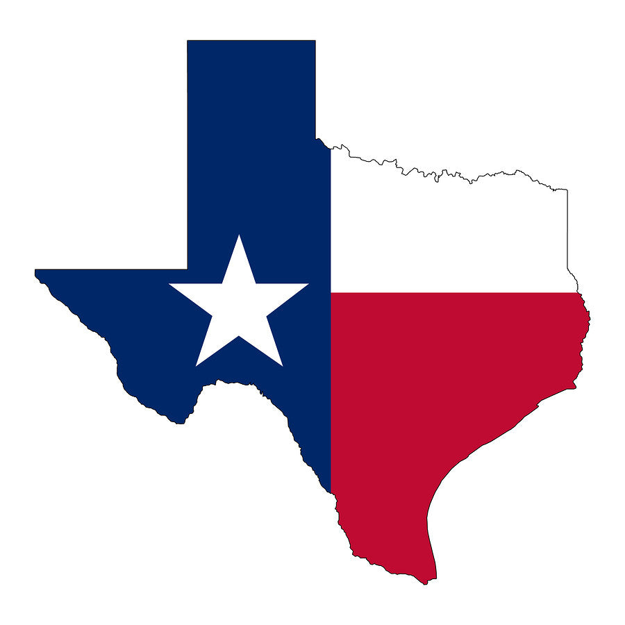 Texas Shape Wood Flag Patriot Wood