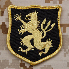 Seal Team 6 Gold Squadron Wood Patch