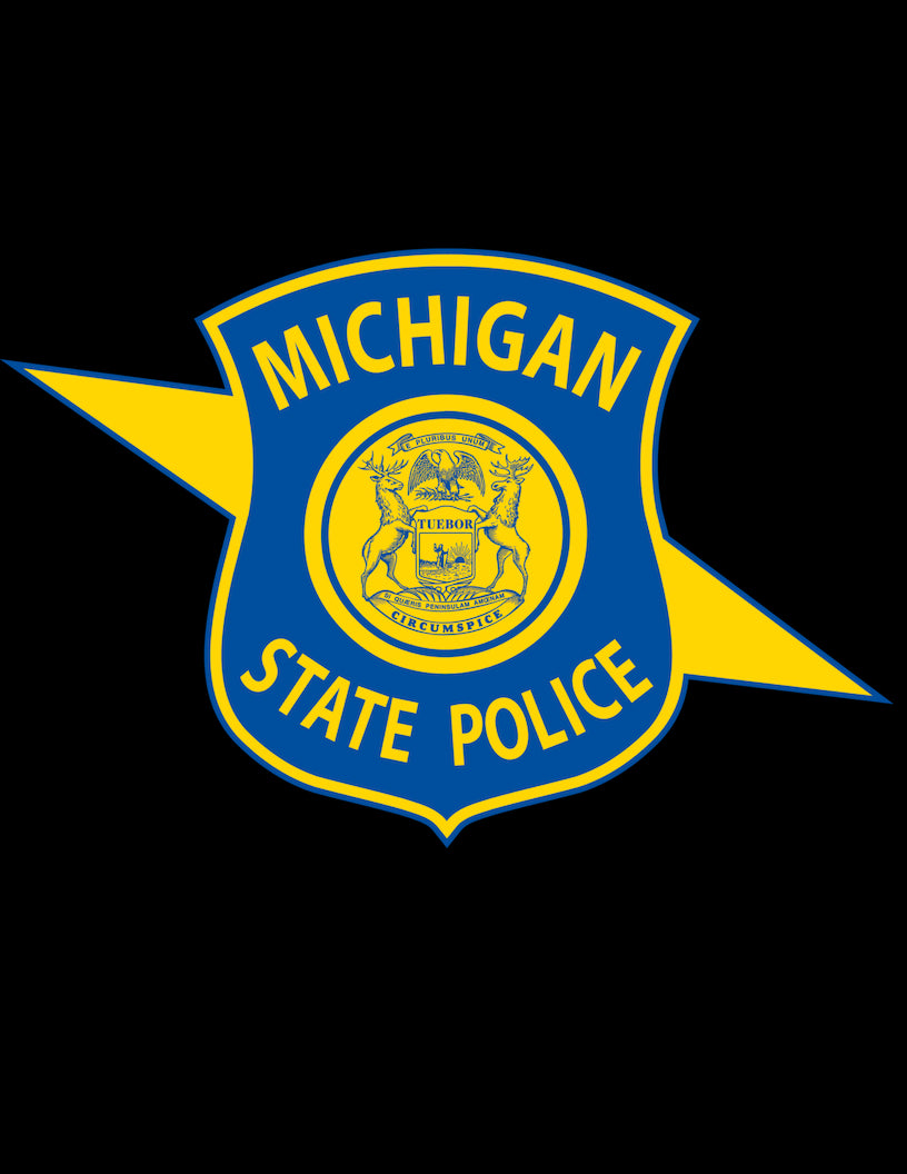 Michigan State Police Wood Patch
