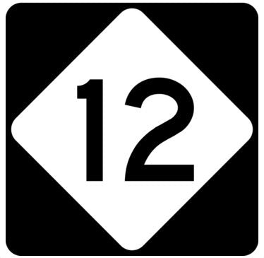 Route 12 Outer Banks Sign Wood Wall Art