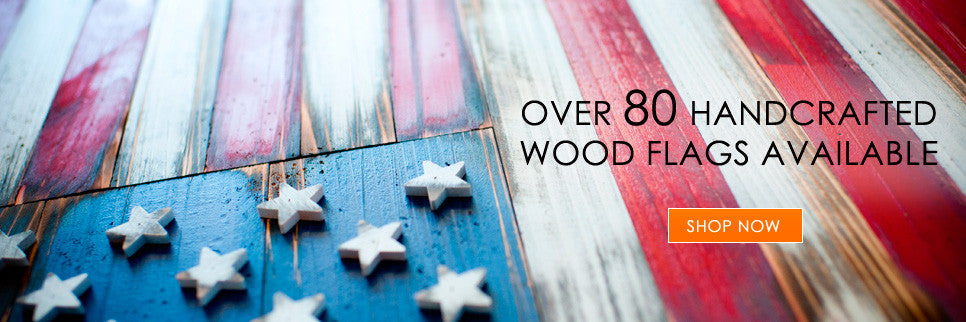 Patriot Wood:  wood flags and wall art