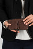 wallet brown zipped