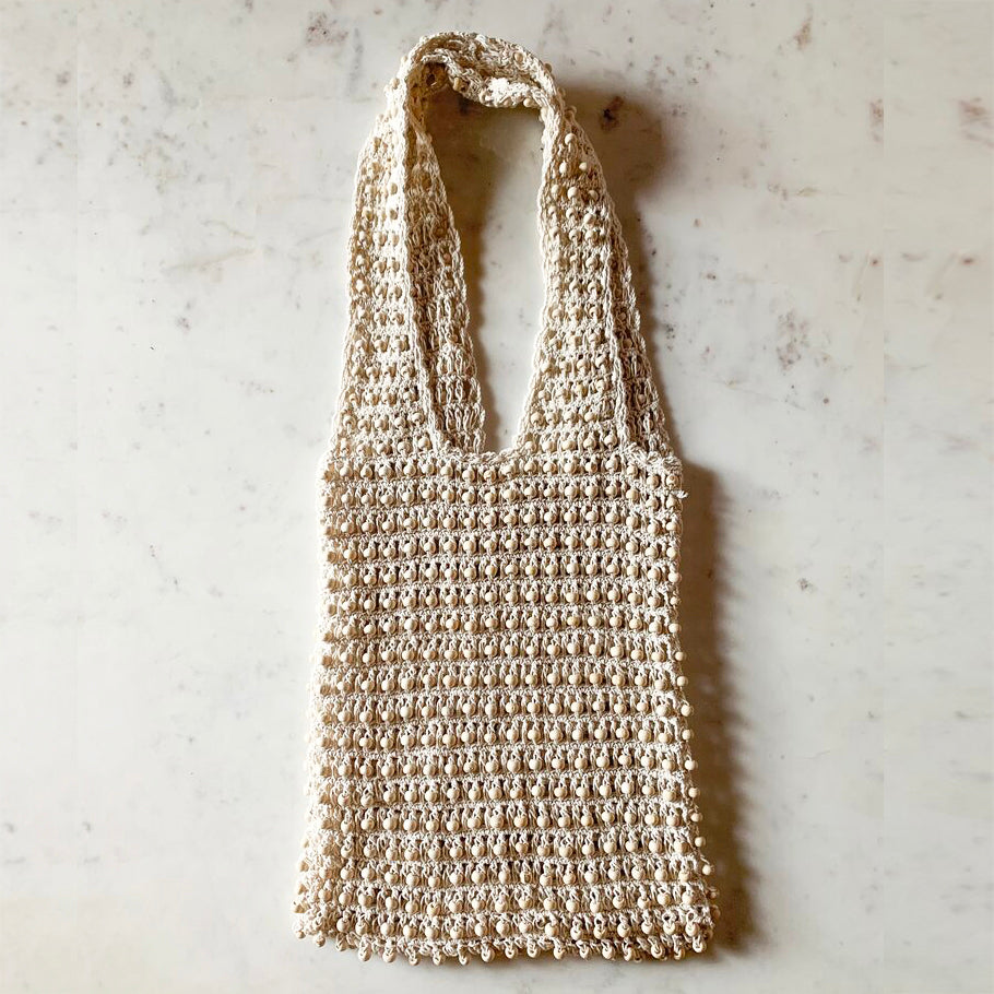 FLORES COTTON MARKET TOTE | CREAM
