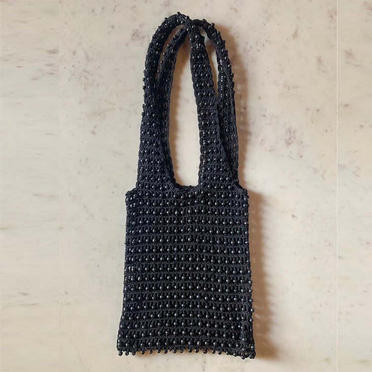 FLORES COTTON MARKET TOTE | BLACK