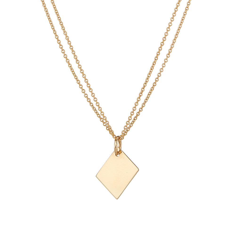 ALFA NOTE NECKLACE | DOUBLE CHAIN