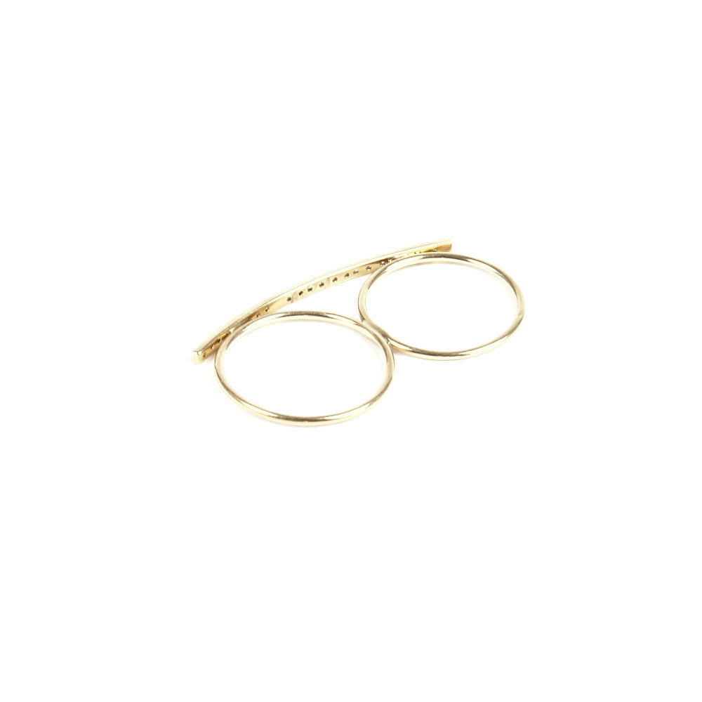 BAR KNUCKLE RING | 14K YELLOW GOLD