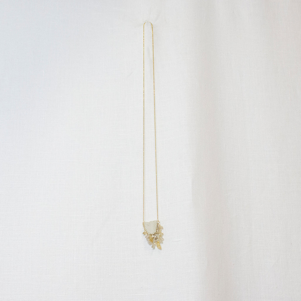 WHITE | CITRINE | GOLD MEDIUM MEDICINE BAG