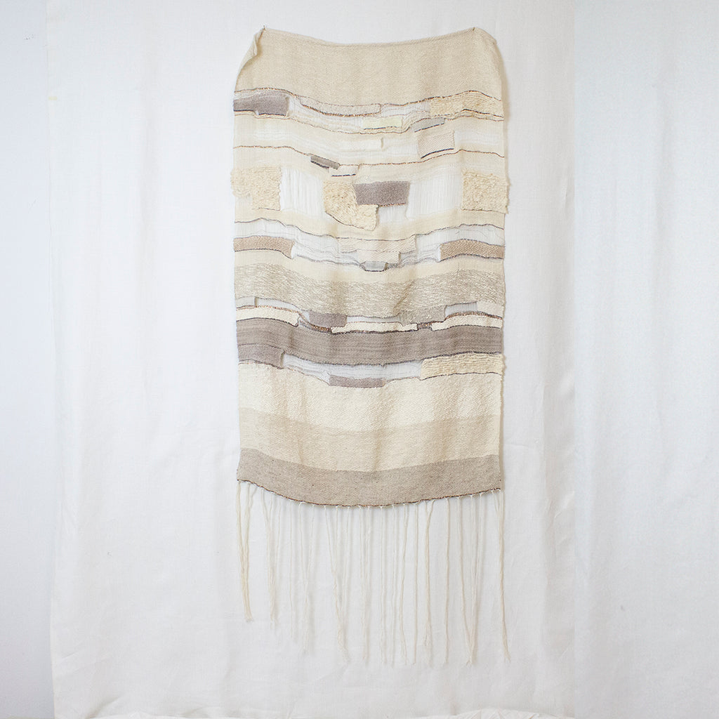 HANDWOVEN NETTED WEAVE | LARGE IVORY