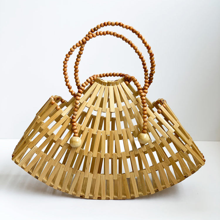 RAJA BAMBOO BAG | TAN
