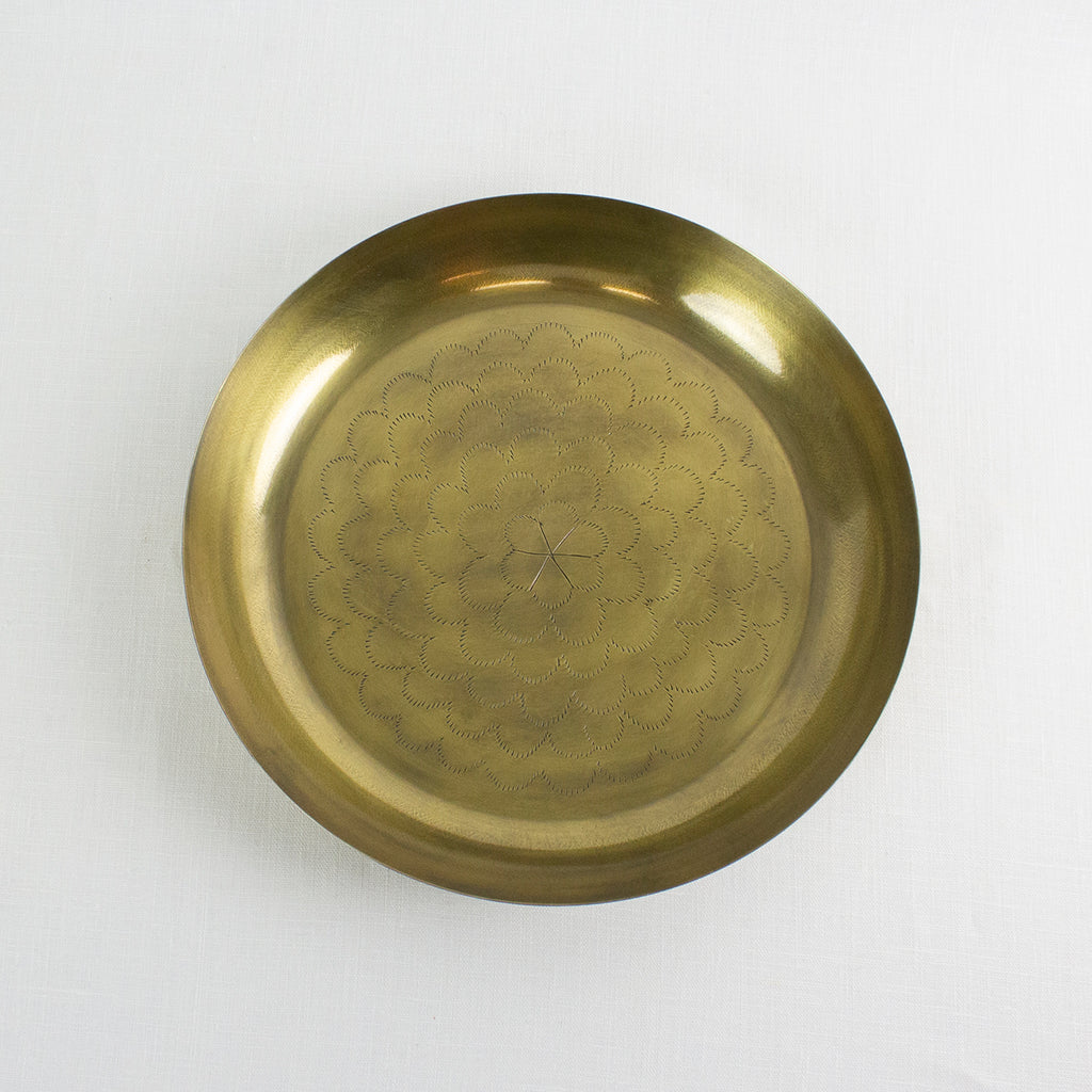 DECORATIVE GOLD DISH W/DETAIL