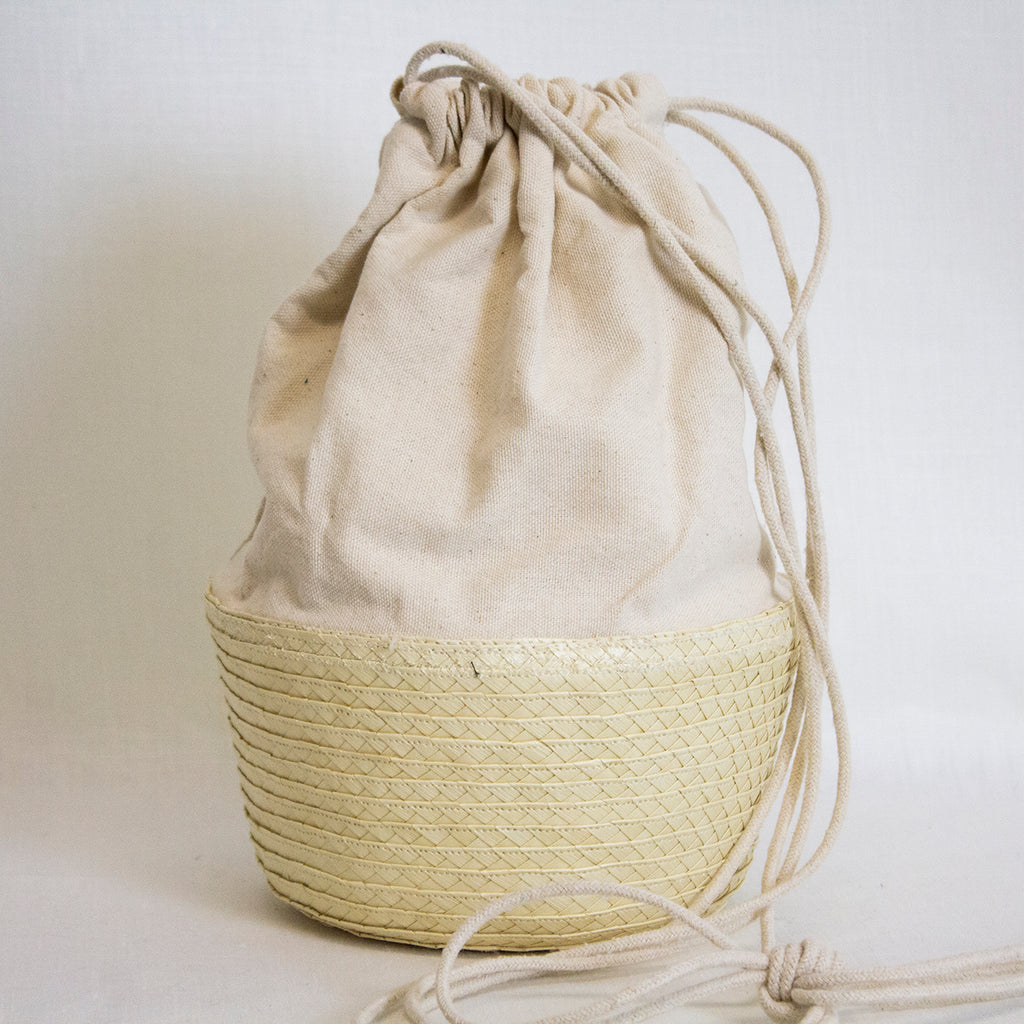 CANVAS SHOULDER BAG | NATURAL