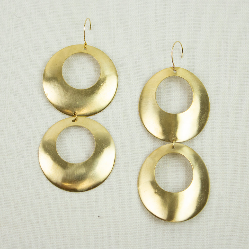 OCCHIONE PIEGATO EARRINGS | DOUBLE