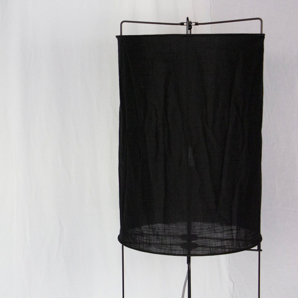 METAL & LINEN FLOOR LAMP | MATTE BLACK