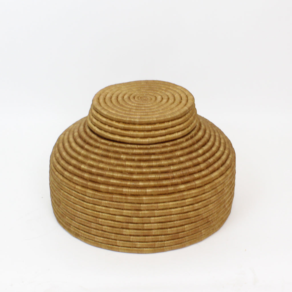 OLIVE LIDDED FLOOR BASKET