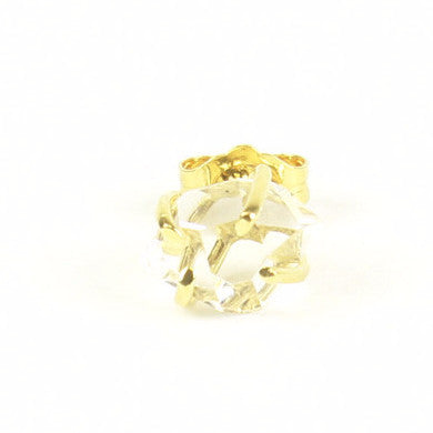 VERMEIL CLEAR HERKIMER STUD (SINGLE)