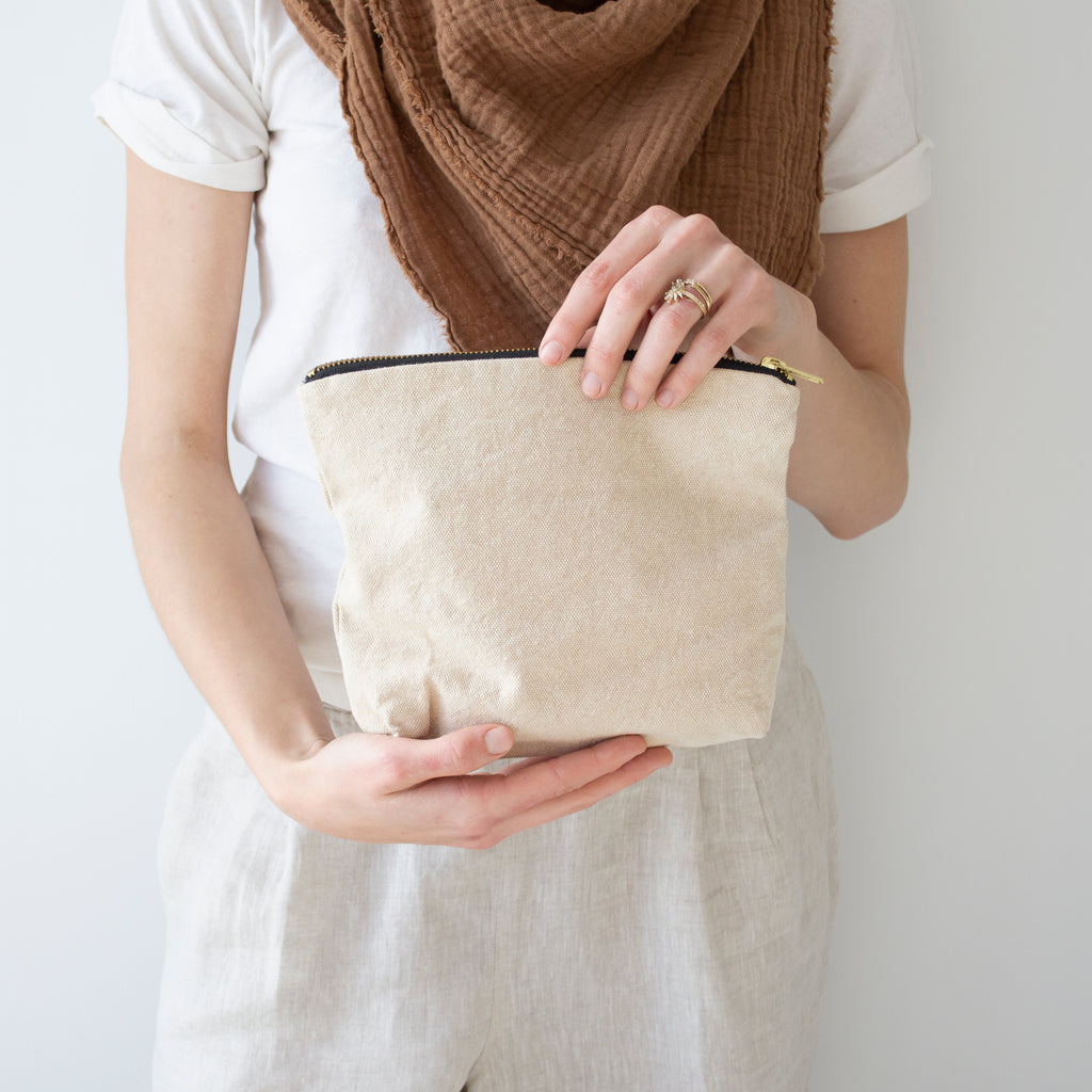 INDAH SMALL COSMETIC BAG | NATURAL WASH