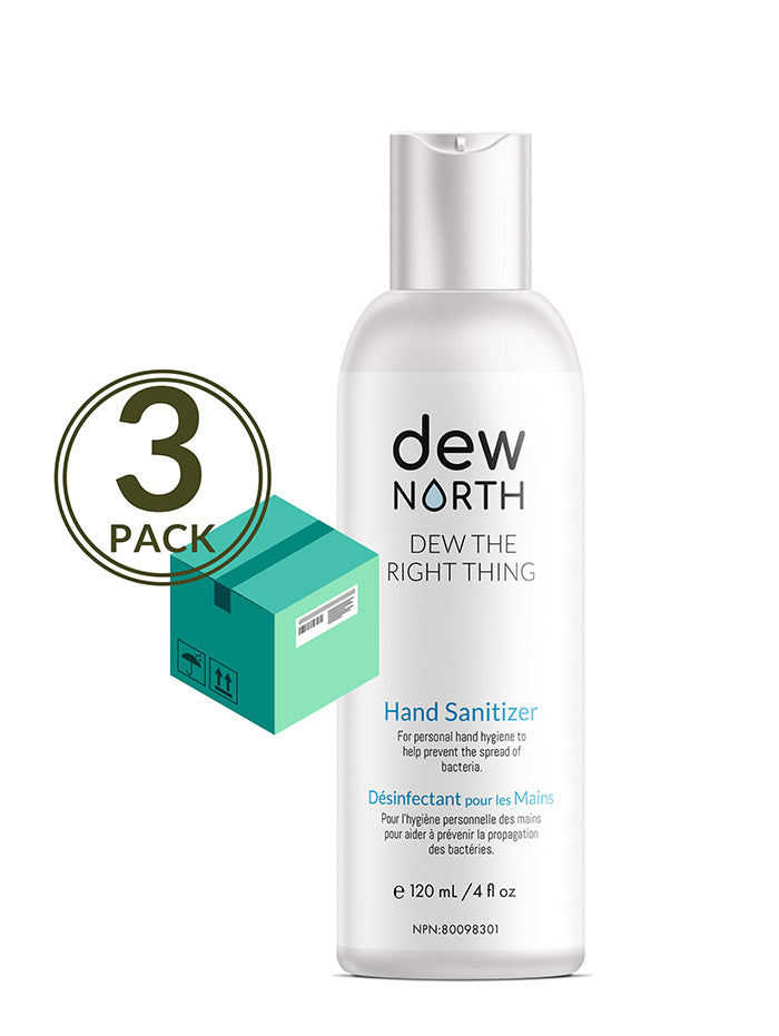 NATURAL HAND SANITIZER—DEW THE RIGHT THING—3 BOTTLES VALUE PACK