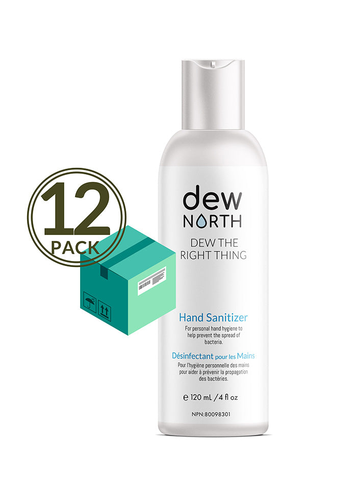 NATURAL HAND SANITIZER—DEW THE RIGHT THING—12 BOTTLES VALUE PACK
