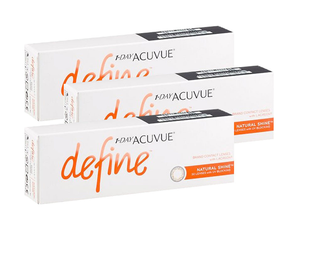 3 Box Set: 1 Day Acuvue DEFINE Natural Shine - Grey Gold by Johnson & Johnson