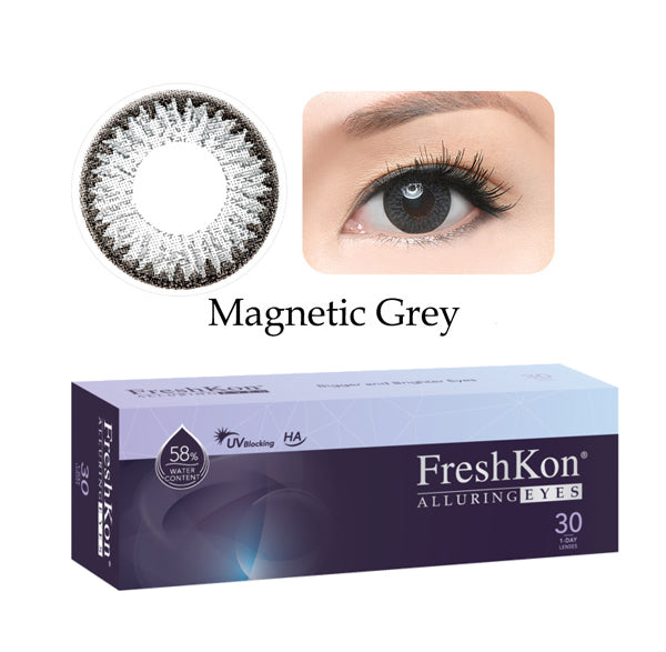 1 Day Alluring Magnetic Grey (30Pcs) by FreshKon