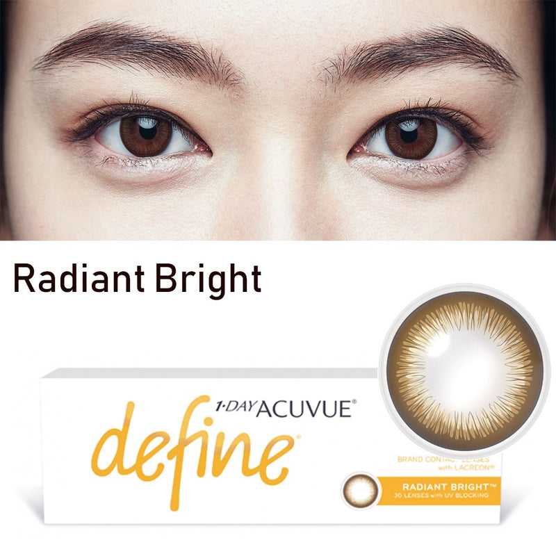 ( Spesial Februari ) 1 Day Acuvue DEFINE Radiant Bright - Brown Mocca by Johnson & Johnson