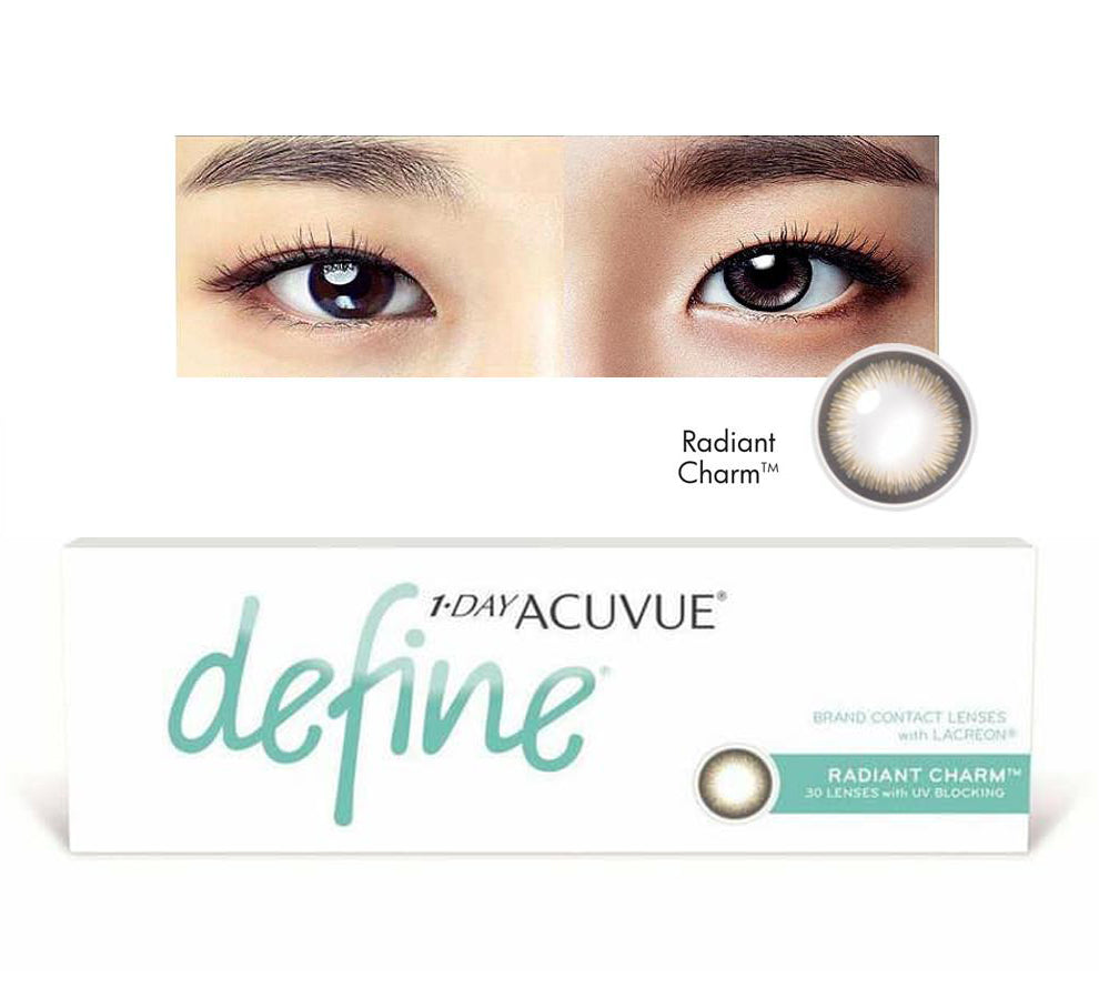 1 Day Acuvue DEFINE Radiant Charm - Grey by Johnson & Johnson