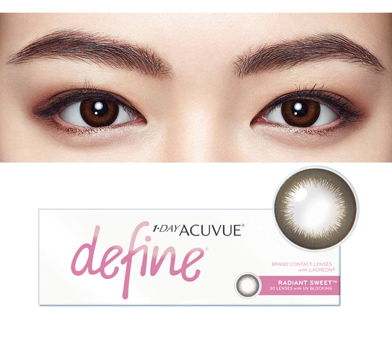 1 Day Acuvue DEFINE Radiant Sweet - Black Brown by Johnson & Johnson