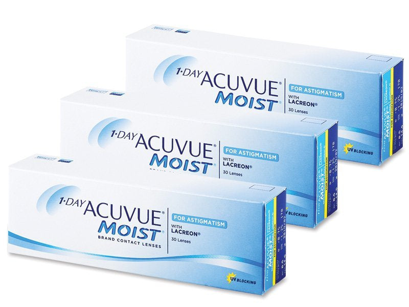 ( 3 Boxes ) 1 Day Acuvue Moist Astigmatism for Minus Eyes by Johnson & Johnson ( Pre Order )