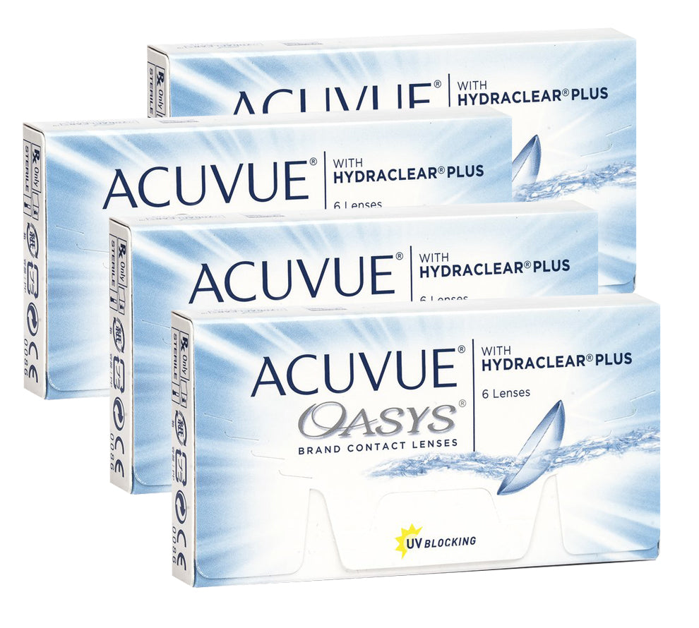 4 Boxes ACUVUE OASYS with HYDRACLEAR by Johnson & Johnson