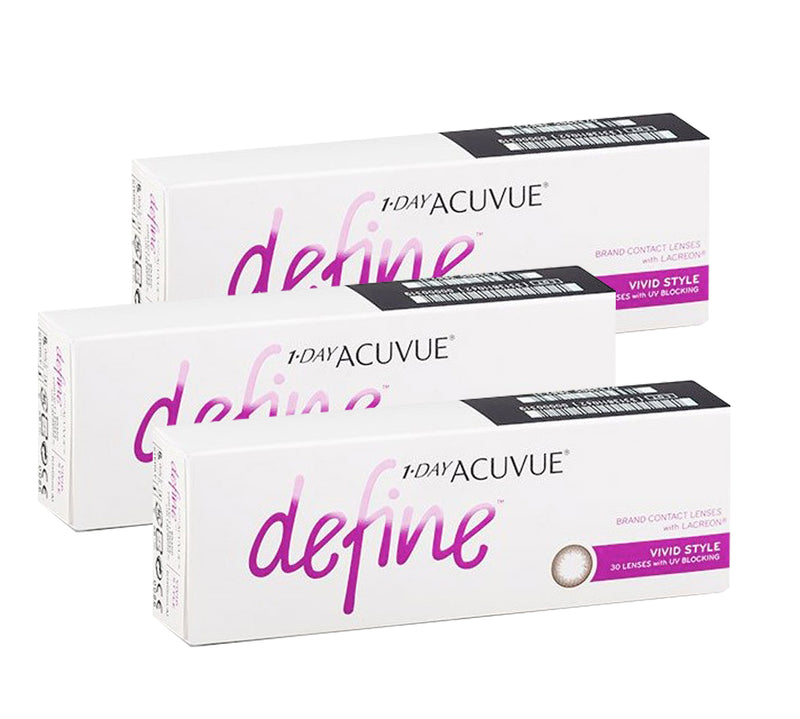 3 Box Set: 1 Day Acuvue DEFINE Vivid Style - Brown by Johnson & Johnson