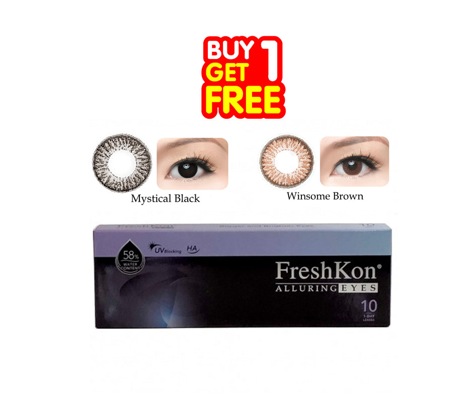 Buy 1 Get 1 Alluring Daily ( 10Pcs ) by FreshKon - Combination Color