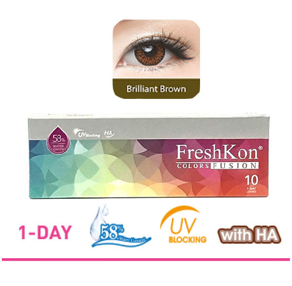 1 Day Colors Fusion Brilliant Brown ( 10pcs ) by FreshKon