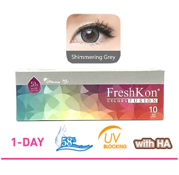 1 Day Colors Fusion Shimmering Grey ( 10pcs ) by FreshKon