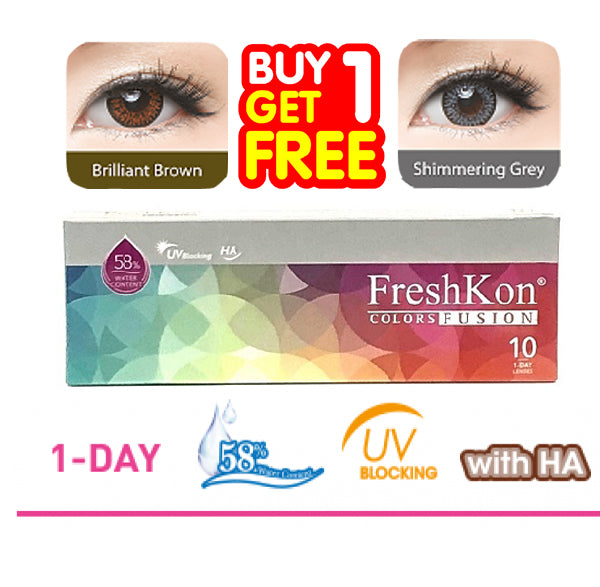 Buy 1 Get 1 FreshKon Colors Fusion Daily ( 10pcs )- Combination Color